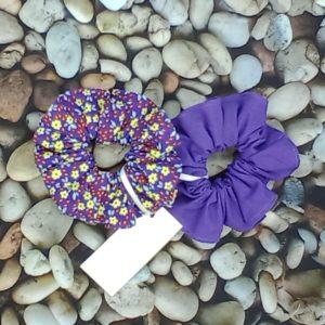lot 2 chouchou violets 482 Marraine la Fée