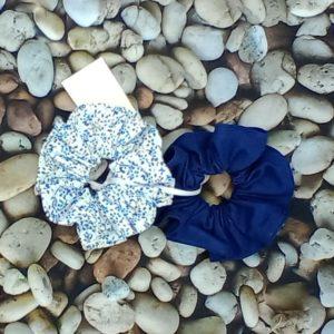 lot 2 chouchous bleu-marine 502 Marraine la Fée