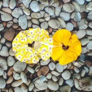 lot 2 chouchous jaunes 218 Marraine la Fée