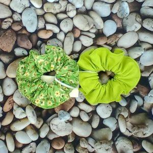 lot de 2 chouchous verts 485 Marraine la Fée